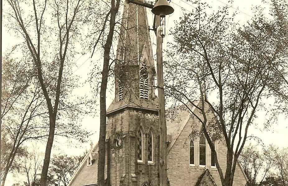 Church of the Unity from the Central Street side. Courtesy of the Winchendon  Historical Society.